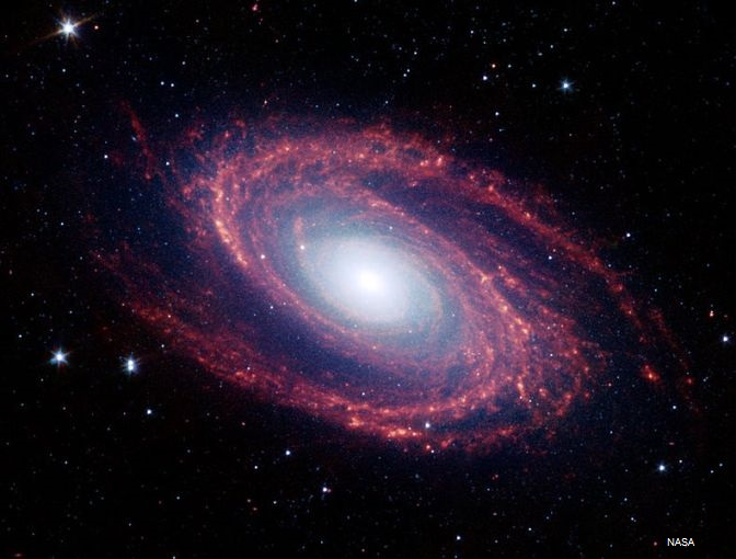 Photography of a galaxy by NASA.
